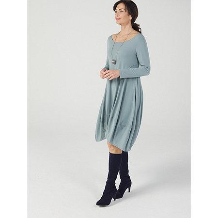 MarlaWynne Luxe Crepe Jersey Scoop Neck Balloon Dress
