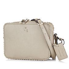Ashwood Leather Square Crossbody Bag with Scalloped Edge