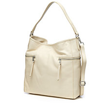 Amanda Lamb Leather Hobo Bag with Crossbody Strap