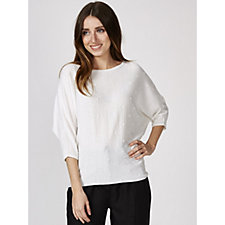 Phase Eight Becca Linen Spot Stitch Top