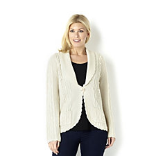 Together Cable Knit Long Sleeve Cardigan