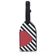 Lulu Guinness 50:50 Stripe Lip Luggage Tag