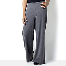 Outlet Wide Leg Trouser with Wide Waistband by Nina Leonard