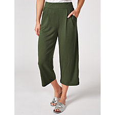 H by Halston Wide Leg Crop Trousers Regular