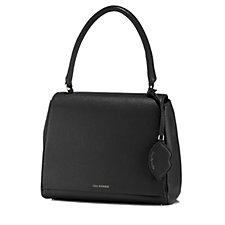 Lulu Guinness Rita Large Grainy Leather Handbag with Lip Charm