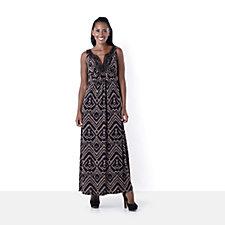 Outlet Ronni Nicole 'O So Slim Beaded Neckline Maxi Dress