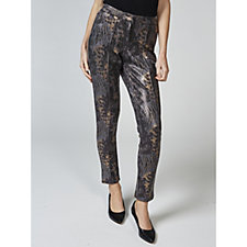 Nick Verreos Printed Stretch Faux Leather Leggings