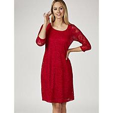 Ronni Nicole 3/4 Sleeve Stretch Lace Shift Dress