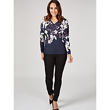 Phase Eight Bethal Floral Border Print Top