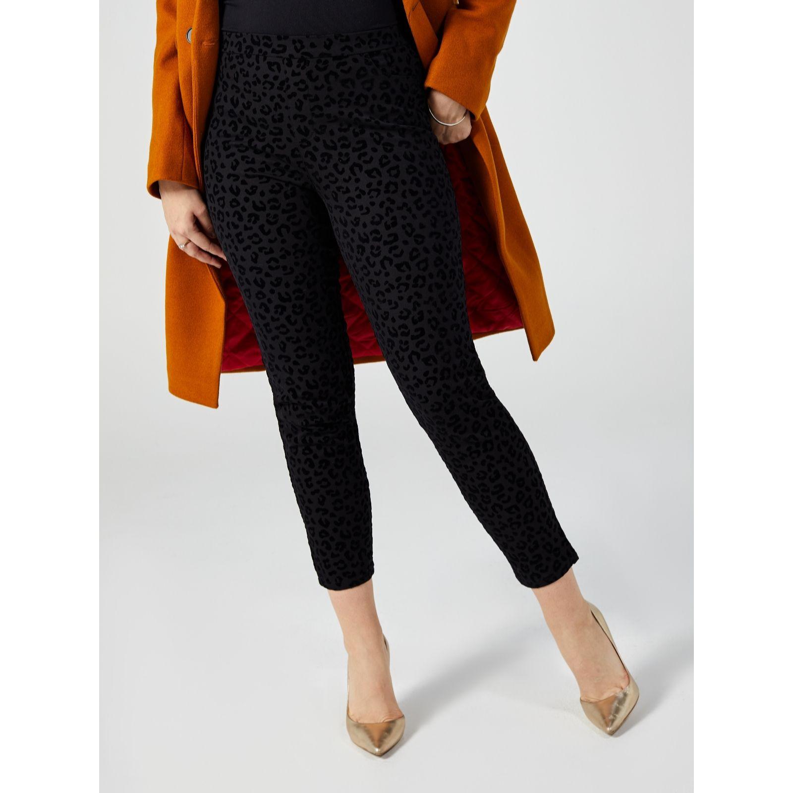 Size 14 New Black Isaac Mizrahi  Live QVC 24//7 Stretch Petite  Crop Trousers