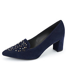 Peter Kaiser Nobia Suede Court Shoe with Studded Detail