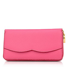 Lulu Guinness Cupid's Bow Leather Continental Wallet