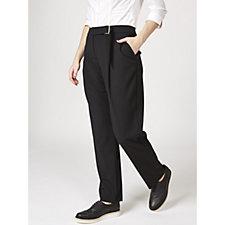 L'Officina della Moda Ring & Belt Detail Trousers