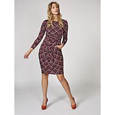 Sydney Long Sleeve Printed Dress by Onjenu London