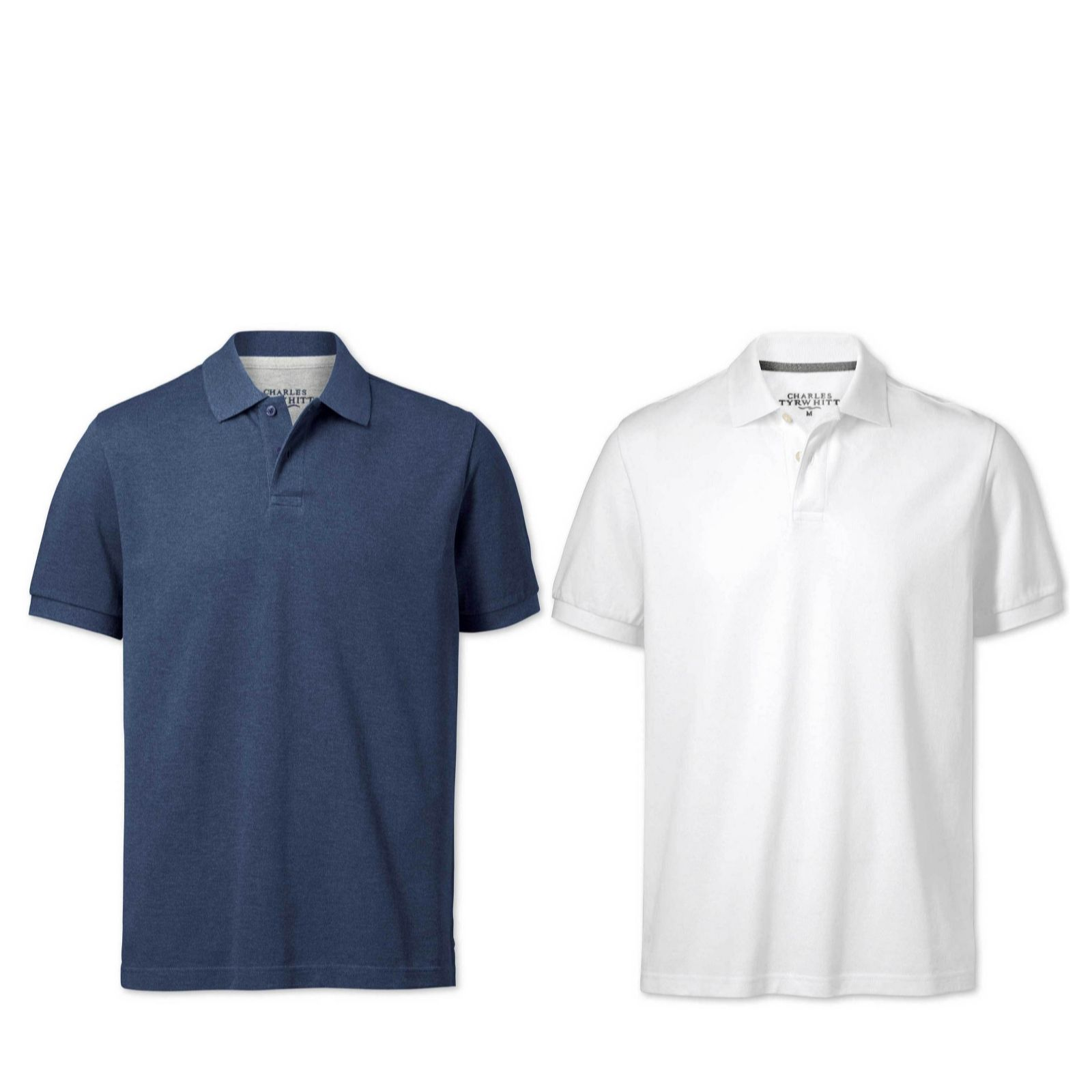 48ef98c70 Charles Tyrwhitt Mens 2 Pack Short Sleeve Polo Shirts - QVC UK