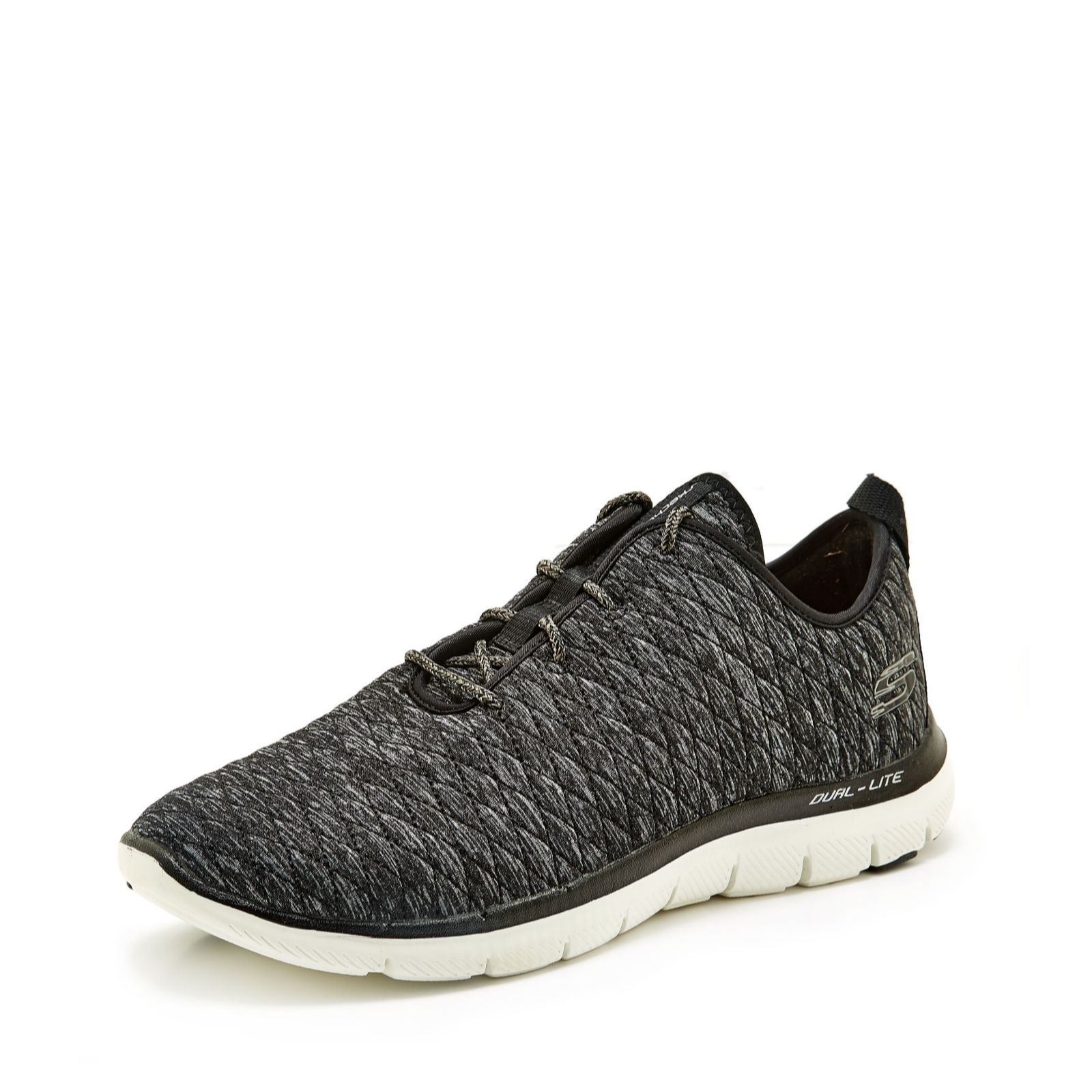 841fd4c656603 Skechers Flex Appeal 2.0 First Impression Heathered Mesh Lace Up ...