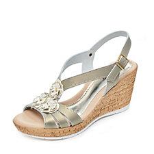 Adesso Carla Forla Embellished Wedge Sandal