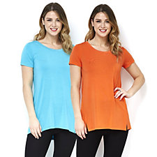 H by Halston Essentials Scoop Neck Tunics 2 Pack