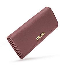 Folli Follie Dark Pink Foldable Leather Wallet