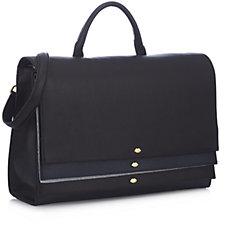 Lulu Guinness Ella Sparkle Leather Grab Bag with Shoulder Strap