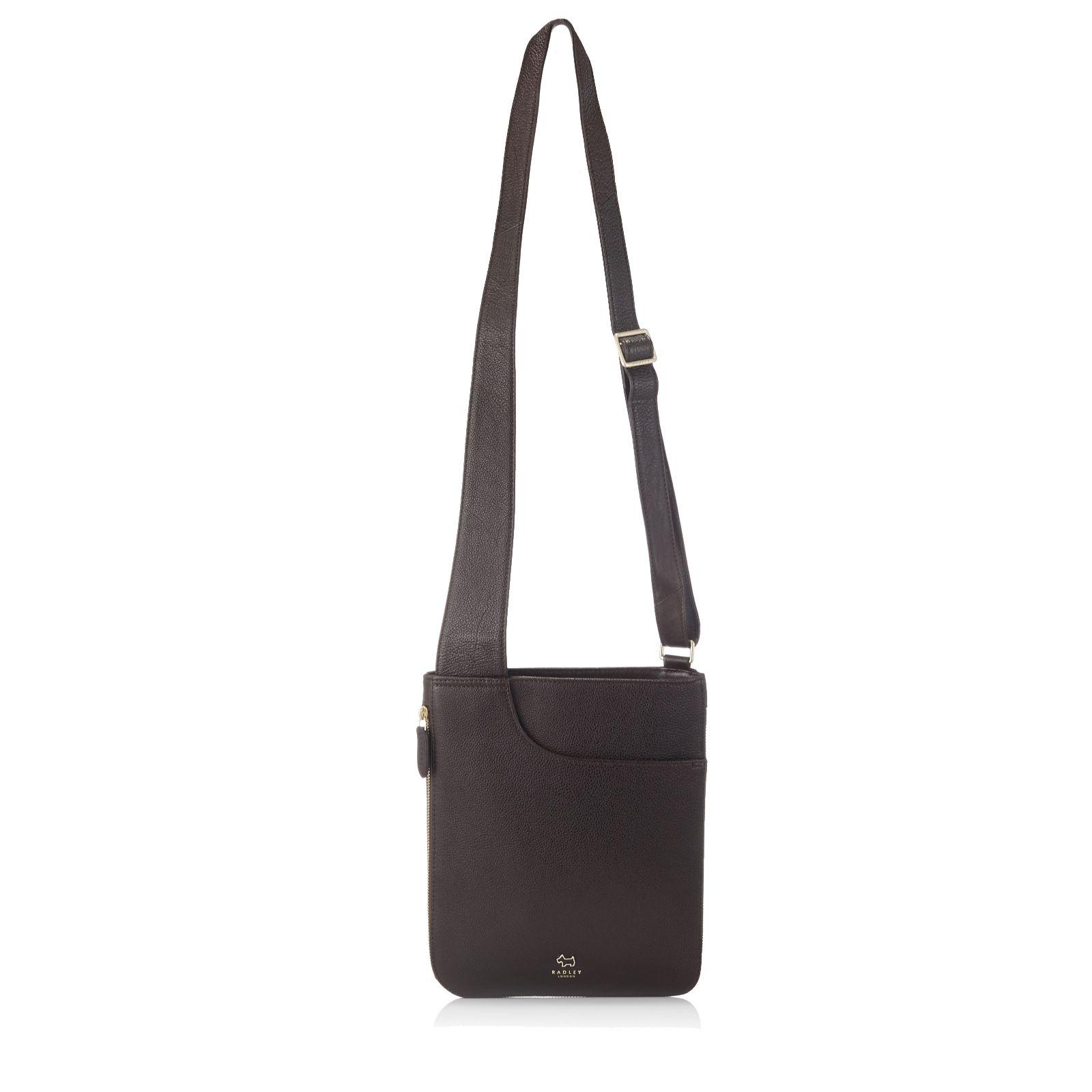 7d4909036f Radley London Pockets Medium Leather Zip Top Crossbody Bag - QVC UK