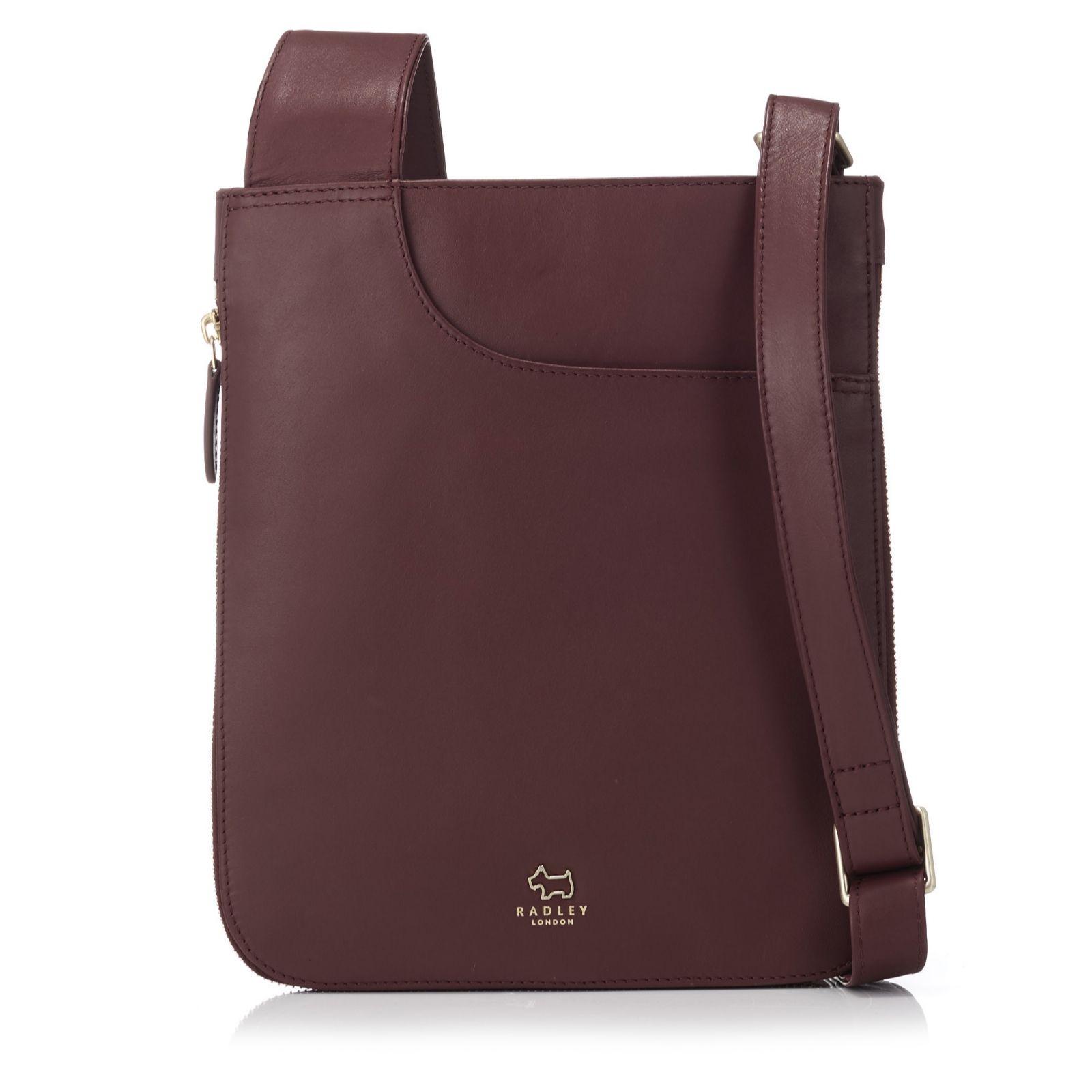 Radley London Pockets Medium Leather Zip Top Crossbody Bag - QVC UK 77512b6c190ff