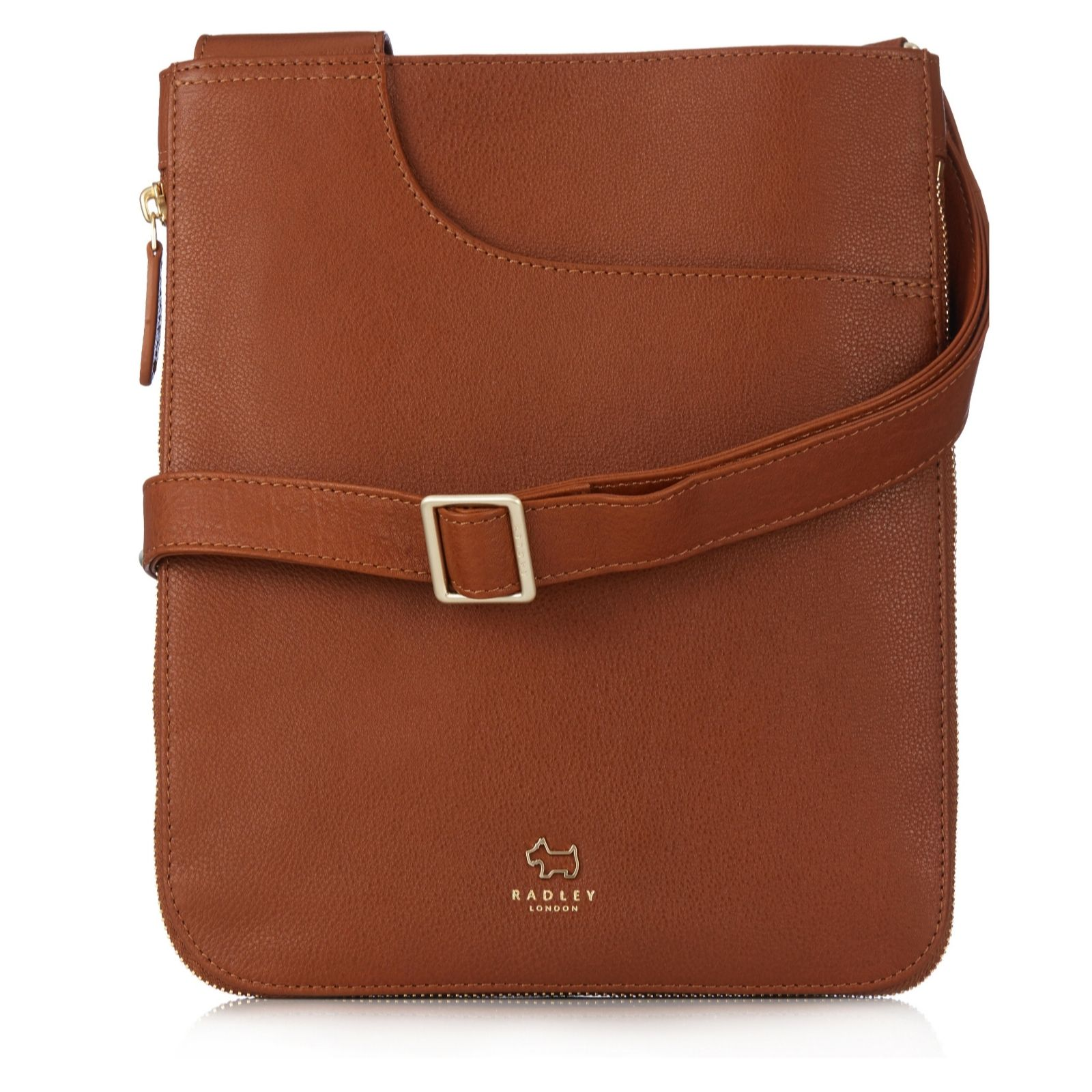 70512e6a0e Radley London Pockets Medium Leather Zip Top Crossbody Bag - QVC UK