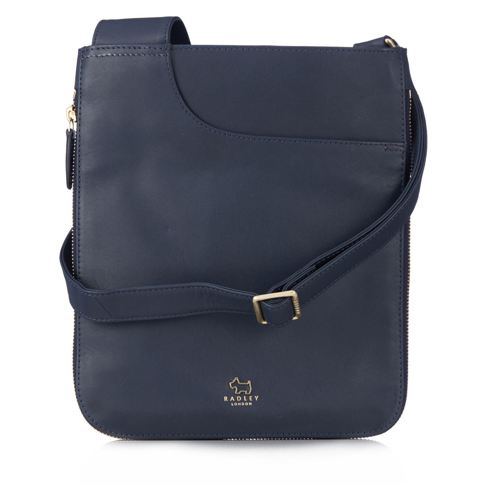 c93002288b1ab Radley London Pockets Medium Leather Zip Top Crossbody Bag - QVC UK