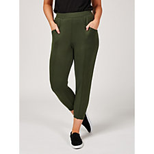 H by Halston Ankle Length Joggers with Seam Detail Petite