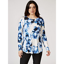 Mr Max Forever Flower Print Long Sleeve Top