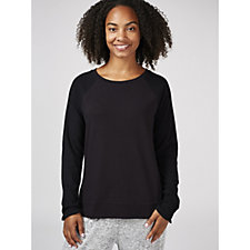 Modern Soul Brushed Rib Terry Mixed Full Sleeve Pullover