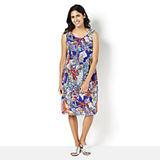 Ronni Nicole Sleeveless Printed Stretch Lace A-line Dress