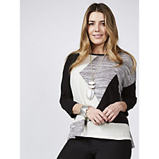 MarlaWynne Graphic Pattern Knitted Sweater