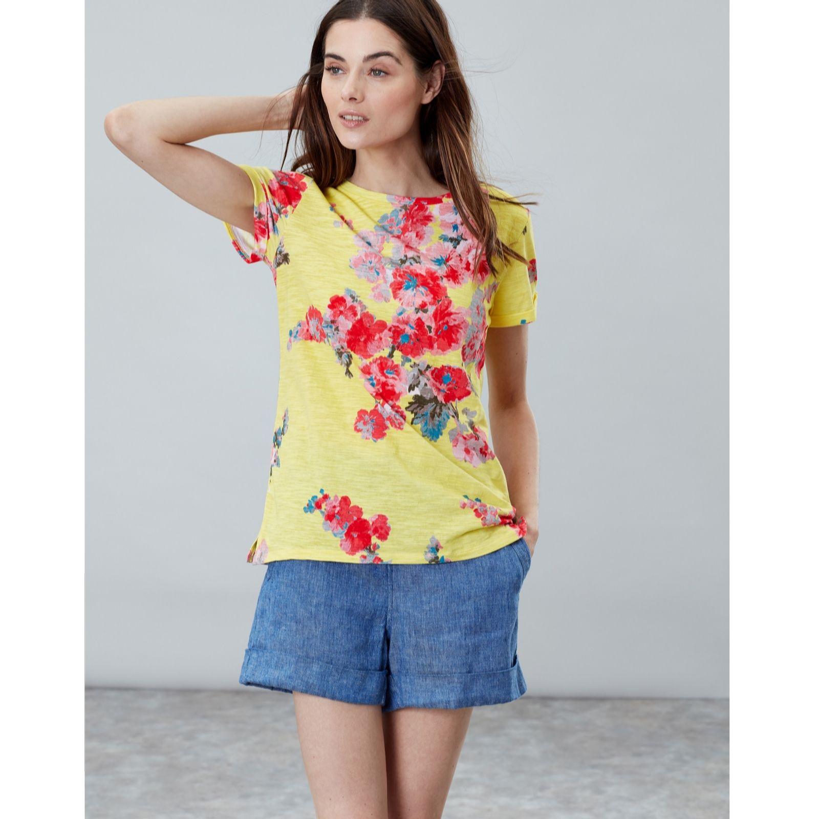 9c1149f67a05b9 Joules Nessa Print Light Weight Jersey T Shirt - QVC UK