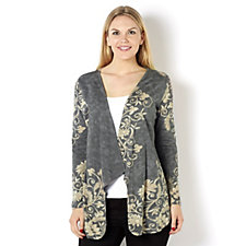 Artscapes Printed Edge to Edge Waterfall Cardigan