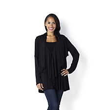 Outlet Jersey Layered Drape Cardigan by Michele Hope
