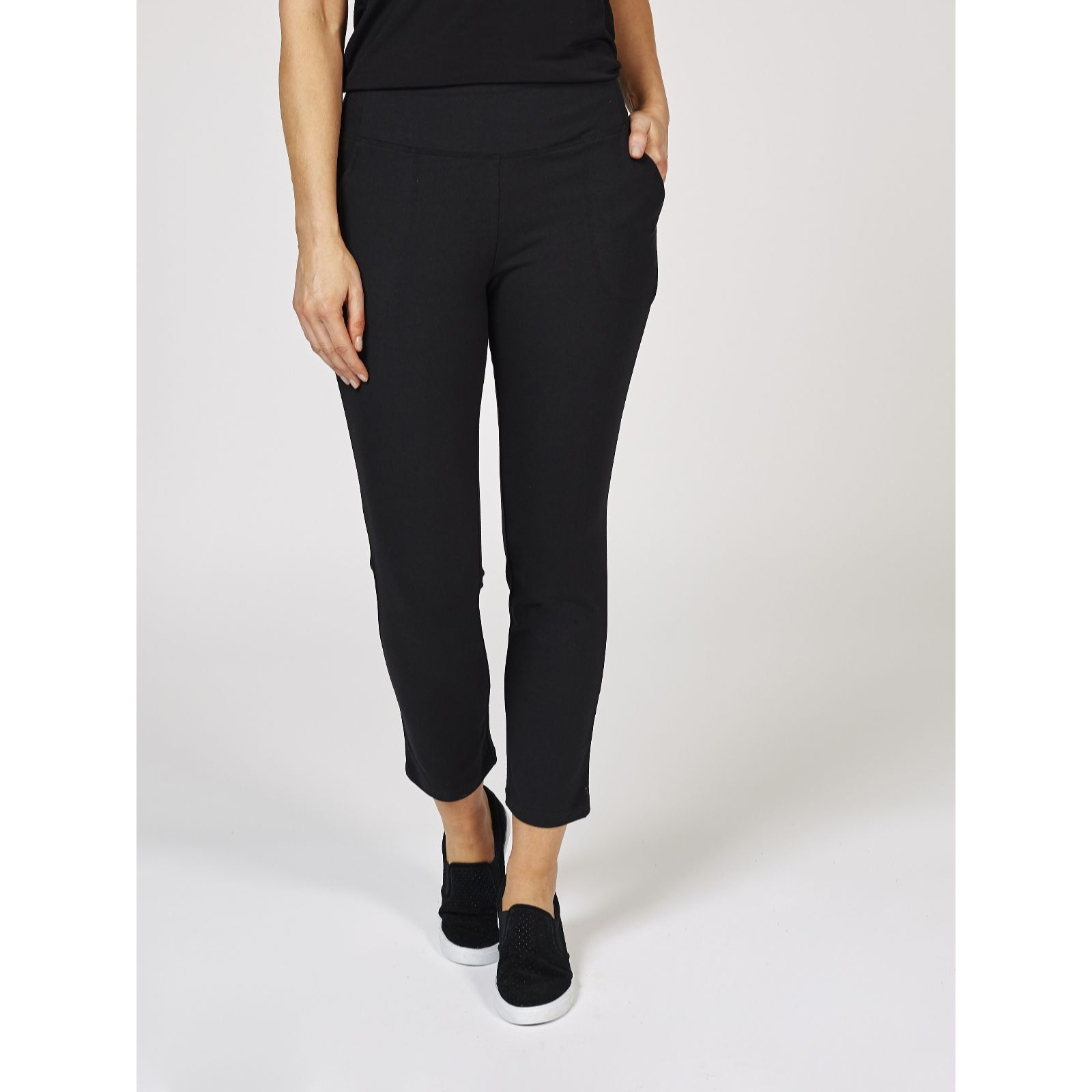 d76592fdf55f3 Women with Control Tummy Control Petite Pull On Trousers - QVC UK