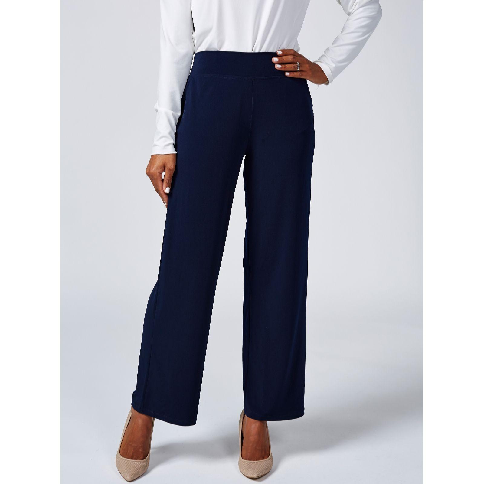Kim Co Brazil Jersey Relaxed Trousers Regular Length Qvc Uk