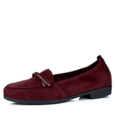 Vitaform Velvet Goat Loafer with Swarovski Crystal Trim