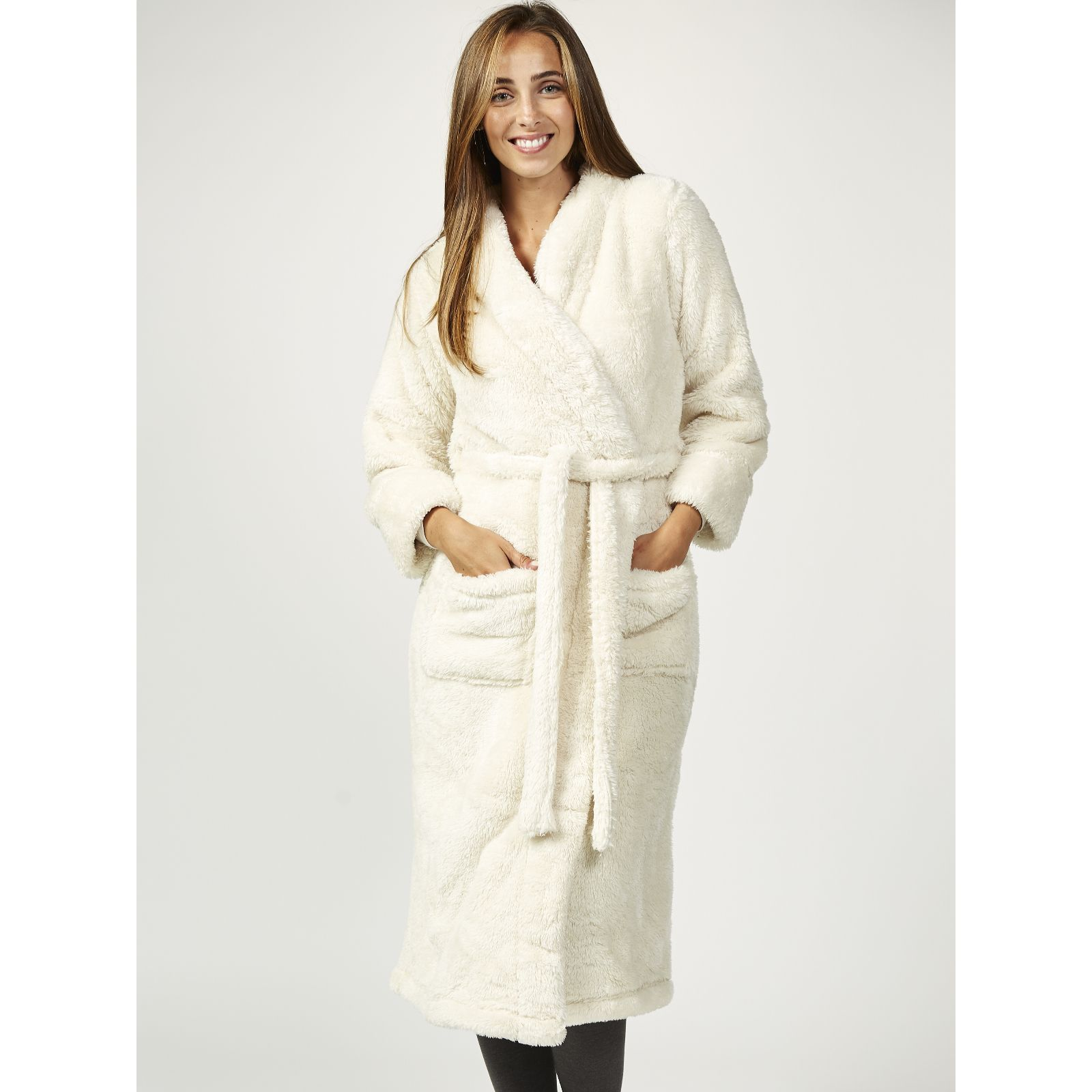 2a6665fc56ea9 Cozee Home Ultra Fluffie Robe - QVC UK