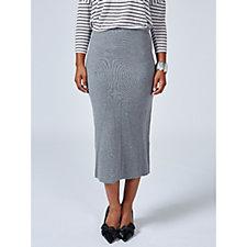 MarlaWynne Double Knit Midi Skirt