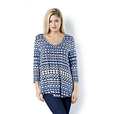 Together All Over Print Pencil Pleat Jersey Tunic