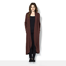 Join Clothes Jersey Long Line Open Cardigan