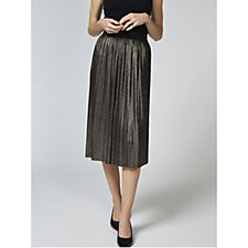Betty & Co Metallic Printed Pleated Midi Skirt