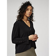 MarlaWynne Lux Crepe Button Front Cardigan