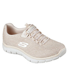 Skechers Empire Spring Glow Crochet Bungee Slip On Shoe with Memory Foam