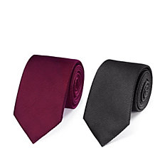 Charles Tyrwhitt Mens 2 Pack Silk Plain Classic Ties