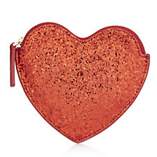 Lulu Guinness Glitter Heart Coin Purse
