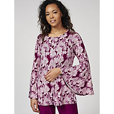 Antthony Designs Long Bell Sleeve Printed Tunic