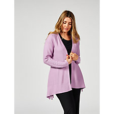 H by Halston Long Sleeve Handkerchief Hem Cardigan